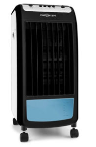 Un climatiseur one concept avec son bac à eau visible