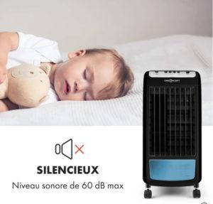 un climatiseur sans évacuation silencieux pour votre sommeil